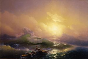 """""""The Ninth Wave"""" by Ivan Aivazovsky (1850)"""