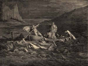 Phlegyas shepherds Dante and Virgil through the Styx... #awkward.