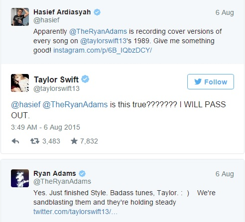 Ryan Adams Gives Taylor Swift\'s 1989 a Coat of Staind | OLD SCHOOL ...